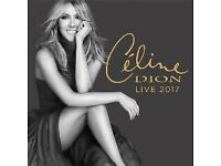 x4 Celine Dion tickets. Manchester, Sunday 25th June 2017. Face value + booking fee.