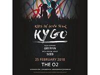 Kygo London O2arena 25th february 2tickets