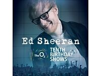 2 x Seated Ed sheeran tickets for sale