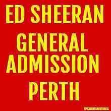 *SOLD pending payment* Ed Sheeran tickets x2 Floor standing Croydon North Maroondah Area Preview