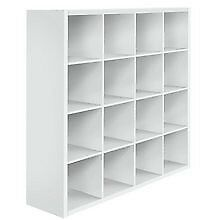 New (slight side scratch) White GLOSS display unit / cube unit / bookcase Bargain Boxed Can deliver.