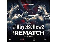 Bellew V Haye 2 Tickets