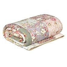 John Lewis floral quilted patchwork throw