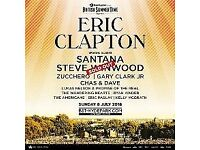 Eric Clapton, Santana, Gary Clark Junior and more, Hyde Park Sunday 08/07/18