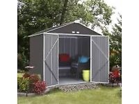 6 x 5 EZEE METAL SHED. NEW. FLATPACK. AVAILABLE IMMEDIATELY.