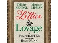 Two Tickets for Lettice & Lovage - this Saturday! (Sold Out Run)
