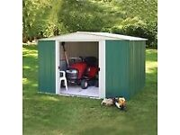 8 x 6 Arrow Greenvale Apex Metal Shed. Flatpack. Available today.