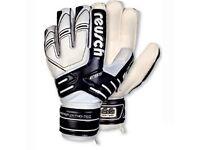 Reusch Ortho-Tec Junior Goalkeeper Gloves-Finger &Thumb Protection System-Size 8-Black/White
