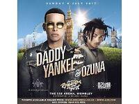 DADDY YANKEE & OZUNA, Reggaeton, Two tickets for £160, great location