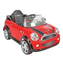 Mini Cooper Ride-On - Red, Avigo 6 Volt