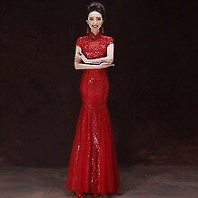 Near new Sparkling Red Traditional Chinese dress Size 6-8