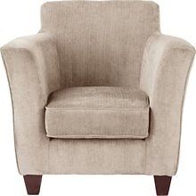 ARGOS KELLY FABRIC CHAIR MINK ONE YEAR OLD EXCELLENT CONDITION