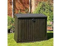 Garden storage boxes x 2