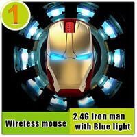 IRON MAN WIRELESS MOUSE BRAND NEW SALE