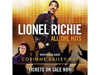 Lionel Richie tickets - Saturday 18th June