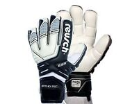 Reusch Ortho-Tec Goalkeeper Gloves-Removable Finger &Thumb Protection System-Sizes 8.5/9-Black/White