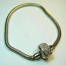 Pandora charm 10ct gold bracelet with 1/2 ct diamond clasp Toowoomba 4350 Toowoomba City Preview