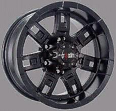 16x8 Crossfire Rambo wheels to suit Nissan Navara D40 Thai