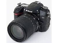 MINT CONDITION NIKON D7000 CAMERA WITH 18-105 VR LENS HARDLY USED AND IN TOP WORKING ORDER