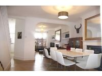 Beautiful Ice White Retro Extendable Dining table and 8 Chairs