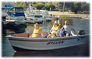 Fishing special cottage rental with boat and motor