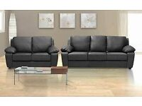 BRAND NEW LEATHER 3+2 SOFA + DELIVERY