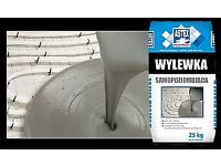 SELF LEVEL FLOOR LEVELLING COMPOUND 25KG WITH FIBRE IDEAL FOR FLOOR HEATING ! TW7, UB6, GU24 CALL !
