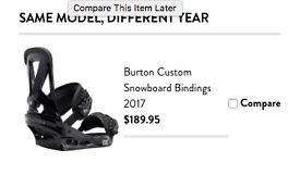 Sturdy Burton Custom black snowboard bindings size M