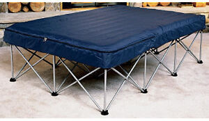 HEAVY DUTY FOLDING STEEL FRAME SYSTEM FOR INFLATABLE BED