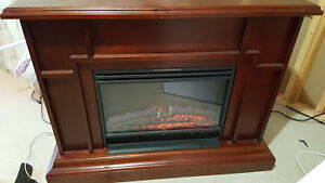 Electric fire place with remote