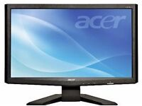 ACER X193HQ widescreen lcd display screen VGA as new condition with cable leads etc cheap £38