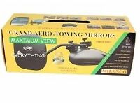 Car Towing Mirrors & Carry Bag, Brand New Milenco Grand Aero 3 Flat Glass, Twin Pack Caravan Trailer