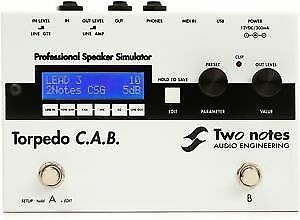 Two Notes Torpedo C.A.B. Cab and Power Amp Mic Sim EQ