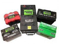 Car battery for any make and model, 1 year replacement warranty
