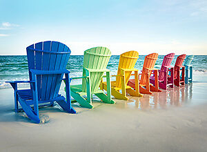 OUTDOOR FURNITURE-LIFETIME WARRANTY-RECYCLED PLASTIC-18 COLORS