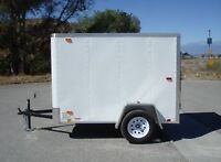 USED 5x8 TRAILER- enclosed.