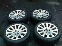 4 x OEM bmw rims + 245/45/18 DUNLOP SPORT M3 DSST WINTER RUN FLA