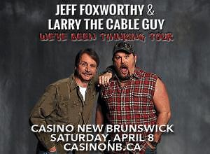 2 tickets for Jeff Foxworthy and Larry the Cable Guy