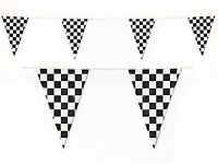 New Checkered Flag Bunting 10m (9 available)