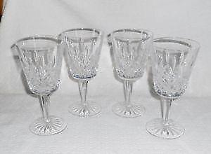crystal water goblets
