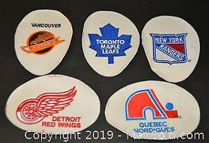 Embroidered NHL Hockey Crests. Lot of 15