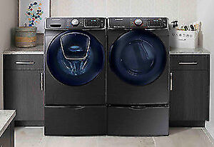 Samsung Stainless Black Washer and Dryer