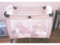 Graco foldable baby cot