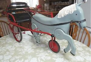 Vintage Pedal Horse and Sulky