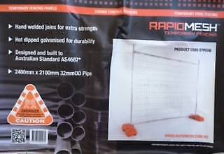 Temporary Fencing with Dust Control - FOR SALE