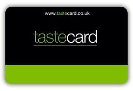 Tastecard 12 month membership card