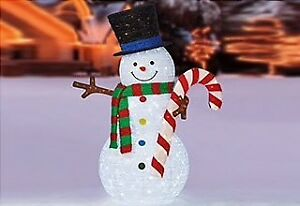Brand new, in box, LED snowman