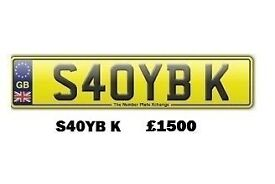 **S40YBK** Asian Name Number Plate For Sale!!