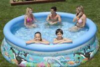 Easy-set Large Inflatable Pool 12-foot wide by 30-in deep