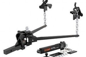 Brand new curt weight distribution hitch with sway control